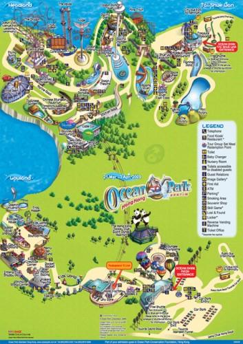 Ocean Park Guide Map