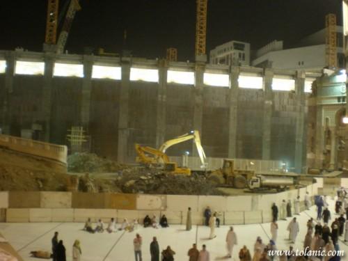 Masjid al-Haram is under construction
